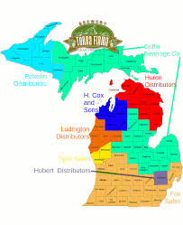 Map Of The State Of Michigan by Distribution