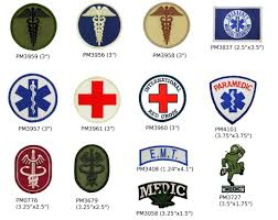 emt first aid patches paramedic red cross caduceus tactical