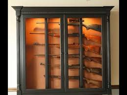 Plans For Gun Cabinet Building Gun Cabinet Plans Examples Youtube