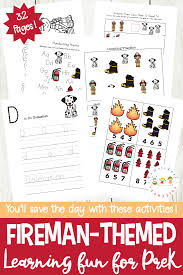 fun and fabulous firefighters printables for preschoolers