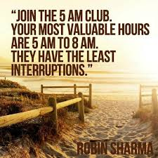 robin sharma on join the 5 am club your most valuable