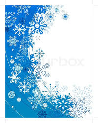 christmas blue and white background with contour snowflakes