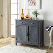 accent cabinets with doors olivia 2 drawers grey accent cabinet 2 shutter doors sk19087d5 gy