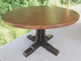 round pine dining table antique pine round dining table extends to oval large pedestal