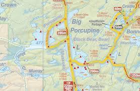 Algonquin Map Big Porcupine Lake Algonquin Park My Self Reliance