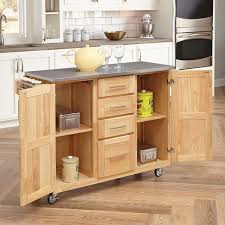 amazon home styles stainless steel top kitchen cart amazon home styles stainless steel top kitchen cart with breakfast bar natural finish dining