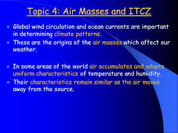 air masses and itcz topic 4 air masses and itcz global wind
