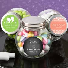 jar wedding favors personalized glass candy jar wedding favors free assembly