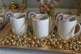 decoration gold and white christmas table decorations with gold