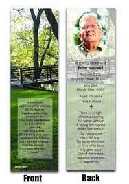 memorial bookmarks in memoriam bookmarks bolton printie ireland in memoriam cards