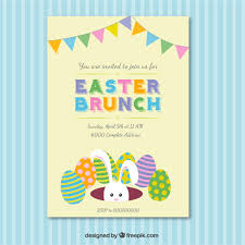 easter brunch invitations easter brunch invitation card vector free