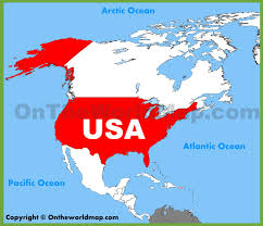 United States Map With Oceans by Usa White Oceans Laminated Wall Map 47x39 Maps International Find