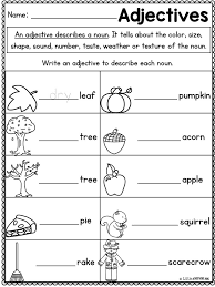 adjective for size worksheet first grade adjective for size
