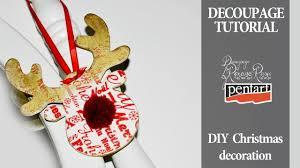 english subtitles diy christmas decorations decoupage tutorial