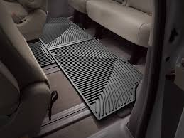 weathertech all weather car mats for toyota sienna 7 passenger
