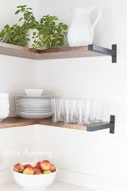 Open Metal Shelving Kitchen by Best 25 Shelf Brackets Ideas On Pinterest Wood Shelf Shelves