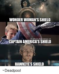 Hawkeye Meme - wonder woman s shield via a comic bookmemes lig captain america s