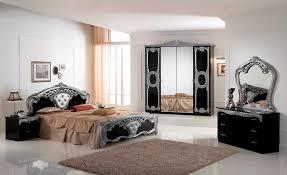 Bedroom Sets Italian Cristina Italian Bedroom Set Black U0026 Silver
