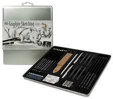 royal u0026 langnickel standard tin graphite sketching art set ebay