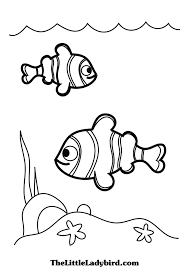 free fish coloring pages thelittleladybird