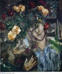 cubism flower painting with flowers 1927 marc chagall wikiart org