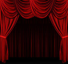 Used Stage Curtains For Sale Fantastic Red Velvet Curtains Over The Movie Screen In A Home