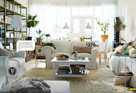 ikea white cozy living area interior design ideas