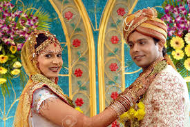 south asian indian hindu wedding ceremony ornaments on tikka