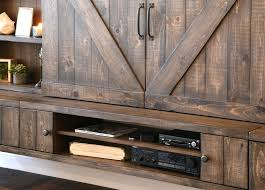 barn door tv wall cabinet farmhouse barn door entertainment center floating tv stand spice