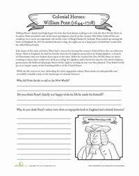 william penn worksheet education com