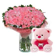 Cute Pink Pictures by Like You A Very Cute Looking Arrangement Of 50 Pink Roses With A