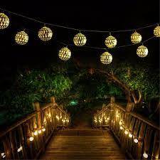 qedertek solar string lights qedertek solar string lights 11ft 10 led moroccan ball fairy globe
