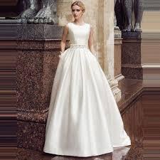 princess wedding dresses 2018 scoop sleeveless a line princess wedding dresses satin