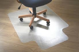 Floor Cover For Under High Chair Wood Floor Protection Modern Black Leather Office Chair On Wood