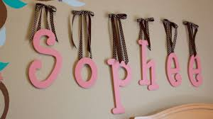 Letters For Baby Nursery How To Hang Wooden Letters With Ribbon Youtube