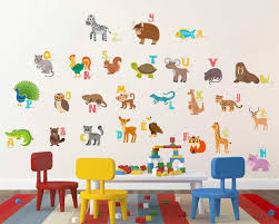 wall stickers for baby rooms online buy rawpockets decal abcd english alphabets animals name baby cor material pvc vinyl matte finish wall coverage area height width