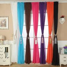Multi Colored Curtains Drapes Ishowtienda Solid Color Tulle Door Window Curtain Drape Panel
