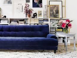 canap plastique canap velours bleu inspirations pour un en joli place 5 7