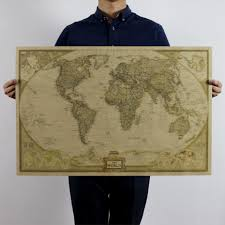 Antique World Map by Online Shop Large Vintage World Map Office Supplies Detailed