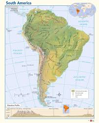 Physical Map Of Southwest Asia by Physical Map Of South America Maps Com
