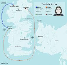 Full World Map Game Of Thrones by Yara Greyjoy U0027s U0027game Of Thrones U0027 Journey Makes No Sense Business