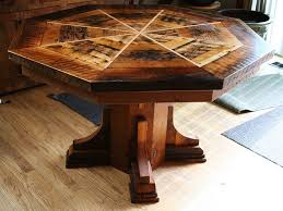Barnwood Dining Room Tables - Octagon kitchen table