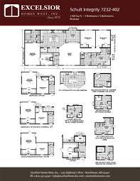 schult manufactured homes floor plans schult integrity 7232 402 excelsior homes west inc