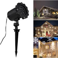 Light Flurries Snowflake Projector by Amazon Com Christmas Snowflakes Projector Light Outdoor Indoor