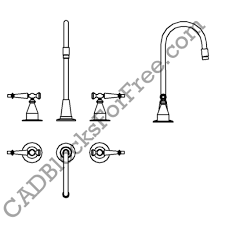 Kitchen Faucets Sacramento by Kitchen Faucet Cad Block Regarding Influence Your Home Design