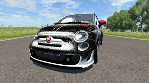 Fiat 500 Abarth White Fiat 500 Abarth White And Black For Beamng Drive