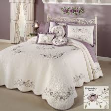 Quilted Bedspread King Antique Bloom Floral Oversized Quilted Bedspread Bedding