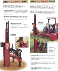 tractor and skid steer mounted fence post drivers