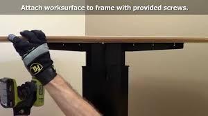 Electric Height Adjustable Desk Frame by Single Column Electric Height Adjustable Desk Assembly Ergo