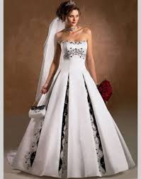 black and white wedding dresses aliexpress buy a line black and white wedding dress china